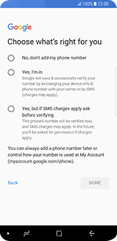 Samsung Galaxy S9 - Applications - Create an account - Step 16