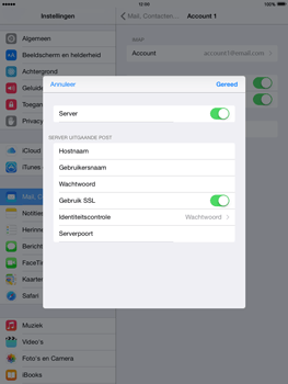 Apple iPad Air iOS 8 - E-mail - e-mail instellen: IMAP (aanbevolen) - Stap 20