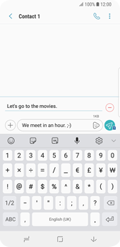 Samsung Galaxy S9 - MMS - Sending pictures - Step 12
