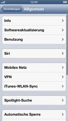 Apple iPhone 5 - Internet und Datenroaming - Deaktivieren von Datenroaming - Schritt 4