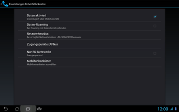 Asus Padfone 2 - Netzwerk - Netzwerkeinstellungen ändern - Schritt 7
