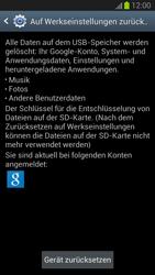 Samsung Galaxy S III - Gerät - Zurücksetzen auf die Werkseinstellungen - Schritt 6