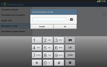 Samsung P5220 Galaxy Tab 3 10-1 LTE - Messagerie vocale - Configuration manuelle - Étape 9