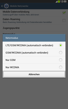 Samsung Galaxy Tab 3 8-0 LTE - Netzwerk - Netzwerkeinstellungen ändern - 7 / 8