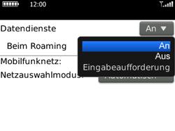 BlackBerry Curve - Ausland - Im Ausland surfen – Datenroaming - 1 / 1