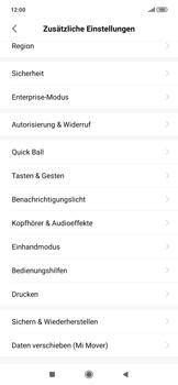 Xiaomi RedMi Note 7 - Gerät - Zurücksetzen auf die Werkseinstellungen - Schritt 4