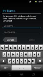 Sony Xperia T - Apps - Konto anlegen und einrichten - Schritt 5