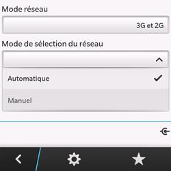 BlackBerry Q10 - Réseau - Sélection manuelle du réseau - Étape 7
