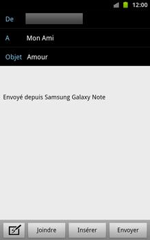 Samsung N7000 Galaxy Note - E-mail - Envoi d