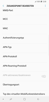 Samsung Galaxy S8 Plus - Android Oreo - MMS - Manuelle Konfiguration - Schritt 10
