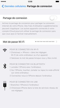 Apple iPhone 6s Plus - Internet et connexion - Utiliser le mode modem par USB - Étape 6