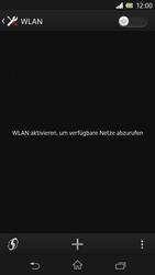 Sony Xperia Z - WLAN - Manuelle Konfiguration - 1 / 1