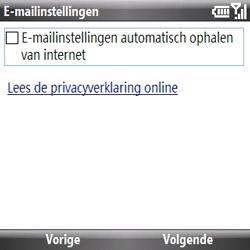 Samsung B7330 Omnia Pro - e-mail - handmatig instellen - stap 6