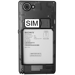 Sony Xperia L - SIM-Karte - Einlegen - Schritt 3