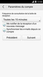 Huawei Ascend Y550 - E-mail - Configuration manuelle - Étape 19