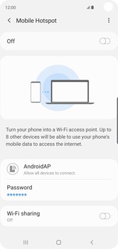 Samsung Galaxy S10 - WiFi - How to enable WiFi hotspot - Step 12