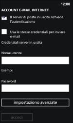 Nokia Lumia 800 / Lumia 900 - E-mail - Configurazione manuale - Fase 14