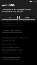 HTC Windows Phone 8X - Gerät - Zurücksetzen auf die Werkseinstellungen - Schritt 8