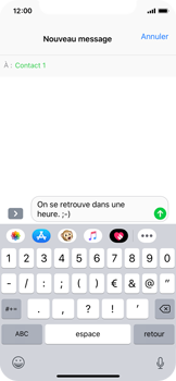 Apple iPhone X - iOS 12 - MMS - Envoi d
