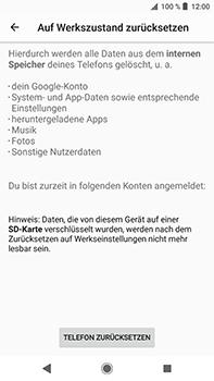 Sony Xperia XZ2 Premium - Fehlerbehebung - Handy zurücksetzen - Schritt 9