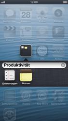 Apple iPhone 5 - Startanleitung - Personalisieren der Startseite - Schritt 5
