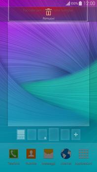Samsung Galaxy Note 4 - Operazioni iniziali - Installazione di widget e applicazioni nella schermata iniziale - Fase 8