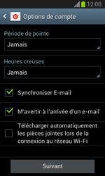 Samsung S7390 Galaxy Trend Lite - E-mail - Configuration manuelle - Étape 17