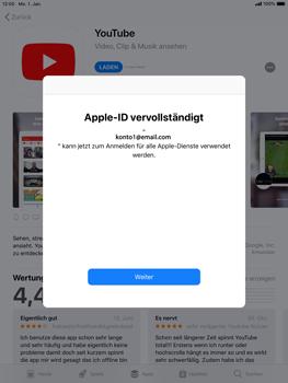 Apple iPad Air 2 - iOS 12 - Apps - Konto anlegen und einrichten - Schritt 23