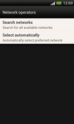 HTC Desire X - Network - Manual network selection - Step 7