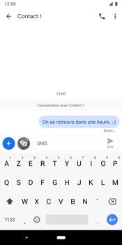 Google Pixel 3 - Contact, Appels, SMS/MMS - Envoyer un SMS - Étape 9