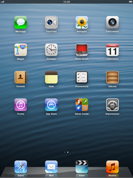 Apple iPad Retina - E-mail - Configurazione manuale - Fase 1
