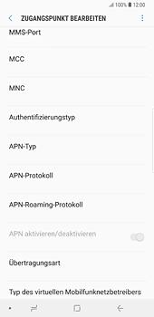 Samsung Galaxy S8 Plus - Android Oreo - MMS - Manuelle Konfiguration - Schritt 11