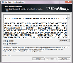 BlackBerry Z30 - software - pc suite installeren - stap 5
