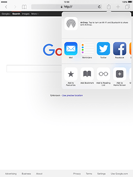 Apple iPad Mini 3 iOS 10 - Internet - Internet browsing - Step 5