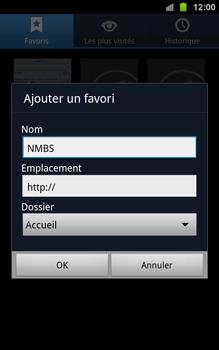 Samsung N7000 Galaxy Note - Internet - navigation sur Internet - Étape 9