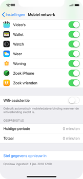 Apple iPhone X - iOS 12 - wifi - schakel Wi-Fi Assistentie uit - stap 6
