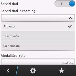 BlackBerry Q10 - Internet e roaming dati - Disattivazione del roaming dati - Fase 7
