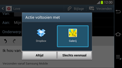 Samsung GC100 Galaxy Camera - E-mail - Hoe te versturen - Stap 13
