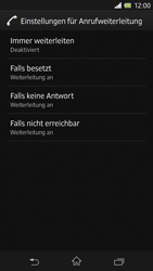 Sony Xperia Z - Anrufe - Rufumleitungen setzen und löschen - Schritt 6