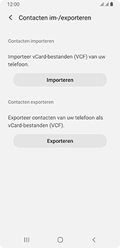 Samsung galaxy-a8-2018-sm-a530f-android-pie - Contacten en data - Contacten kopiëren van SIM naar toestel - Stap 7