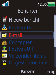 Sony W595 - E-mail - Handmatig instellen - Stap 4