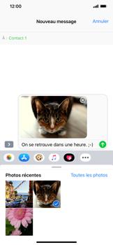 Apple iPhone XR - Contact, Appels, SMS/MMS - Envoyer un MMS - Étape 14