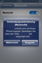 Apple iPhone 4 S - Bluetooth - Geräte koppeln - 1 / 1