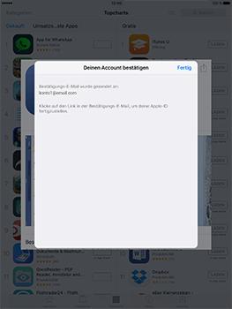 Apple iPad Pro 9.7 inch - Apps - Konto anlegen und einrichten - 32 / 35