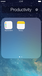 Apple iPhone 5 iOS 7 - Getting started - Personalising your Start screen - Step 5
