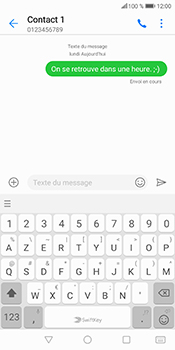 Huawei P Smart - Contact, Appels, SMS/MMS - Envoyer un SMS - Étape 9