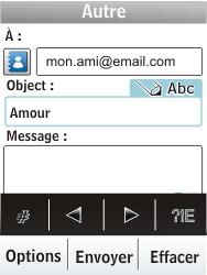 Nokia X3-02 - E-mail - envoyer un e-mail - Étape 8