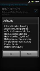 Sony Xperia Sola - Ausland - Im Ausland surfen – Datenroaming - 10 / 12