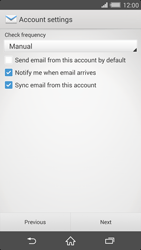 Sony Xperia Z2 - E-mail - manual configuration - Step 16