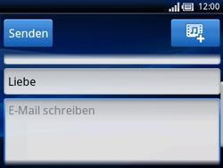 Sony Ericsson Xperia X10 Mini Pro - E-Mail - E-Mail versenden - Schritt 8